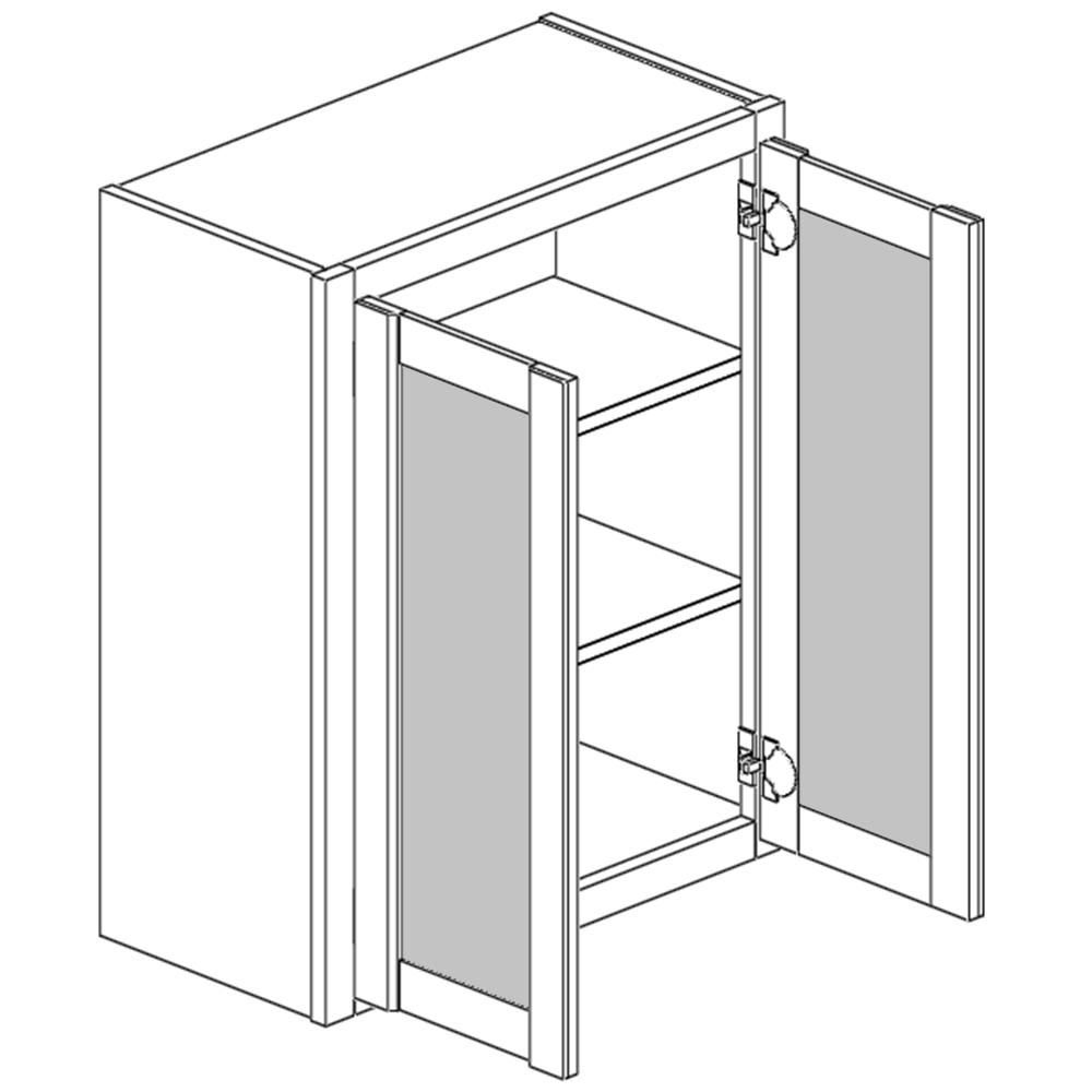 Wall Cabinet Double Open Frame Door